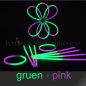 Preview: 50 Knicklichter Dualcolor in gruen-pink