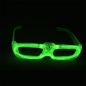 Preview: LED-Brille-gruen