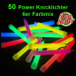Preview: 50 Power Knicklichter 6 Farben Mix