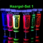 Mobile Preview: UV-Neon-Haargel-Set 1 6 Farben