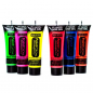 Mobile Preview: UV-Neon-Haargel-Set 6 Farben