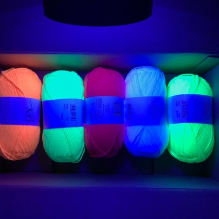 UV Neon Wolle Set