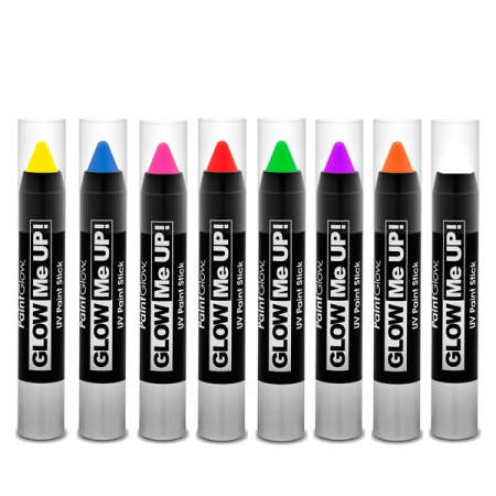 Neon UV Paint Stick Set