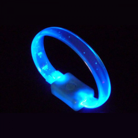 LED crystal-armband in blau