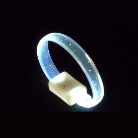 LED crystal-armband in weiss