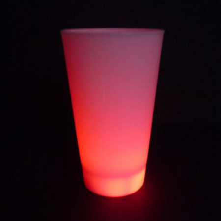 led-becher-rot
