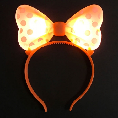 LED Haarreifen in orange