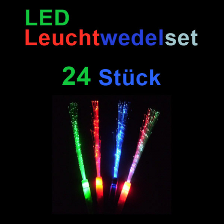 LED Leuchtwedel 24er Set