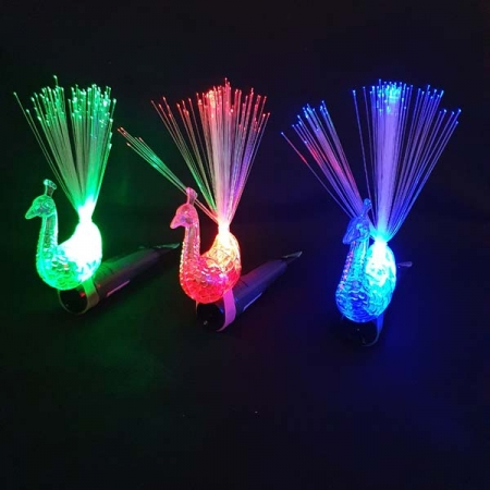 LED Pfau Finger Ringe Set