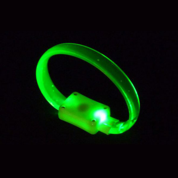 LED crystal-armband in gruen
