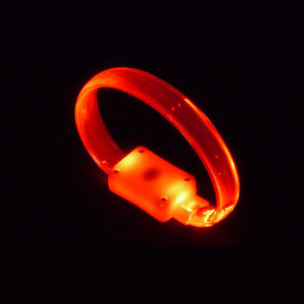 LED crystal-armband in rot